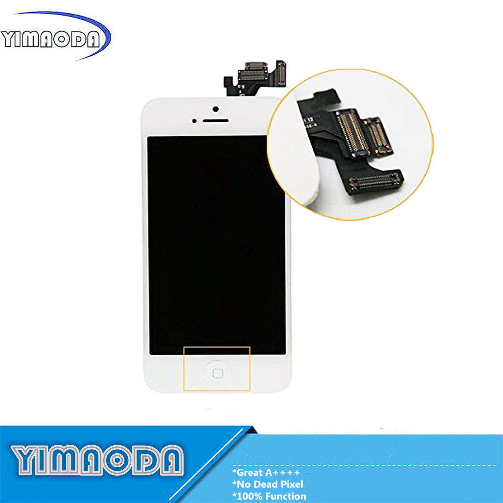 Best Quality LCD for iPhone 5 LCD Screen with Camera Flex Cable Small Parts