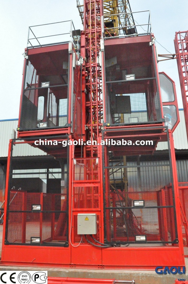 2015 Hot Selling Manufacturer Frequency High Speed Building \ Construction Elevator