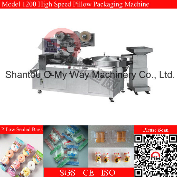 Bubble Gum Candy Automatic Pillow Type Packing Machine