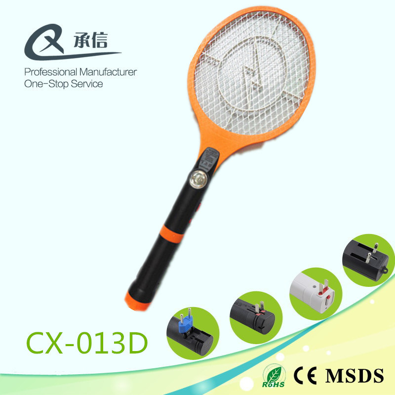 Electronic Mosquito Swatter Bat with 3*LED Torch