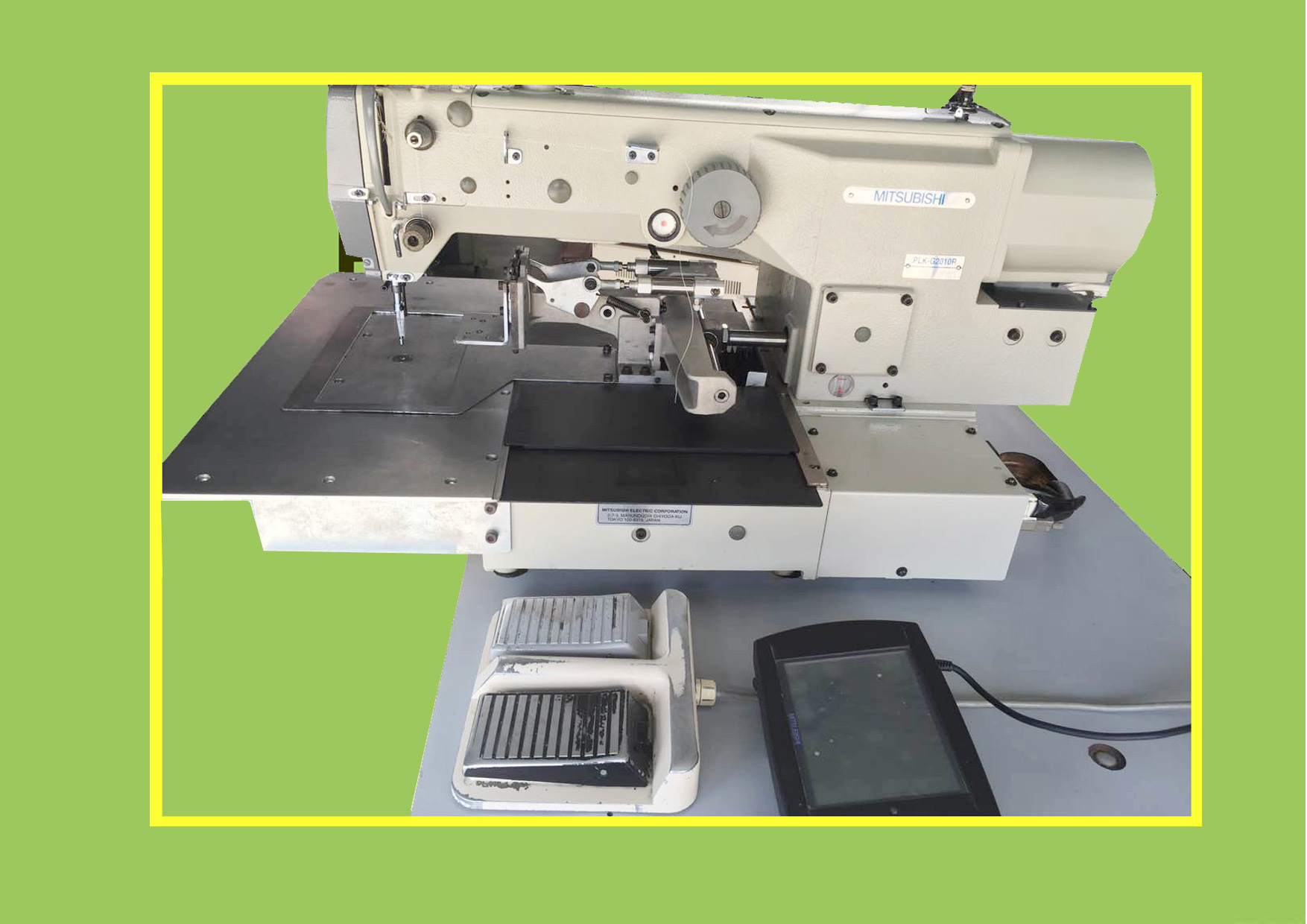 Used Mitsubishi Single Needle Computerized Pattern Sewing Machine (PLK-G2010R)