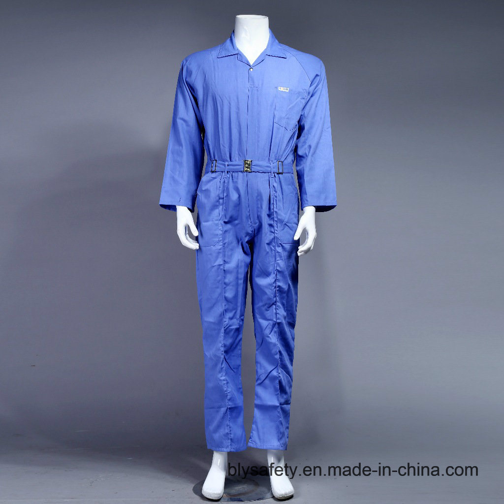 Safety Cheap High Quality Dubai 100% Polyester Work Clothes (BLUE)