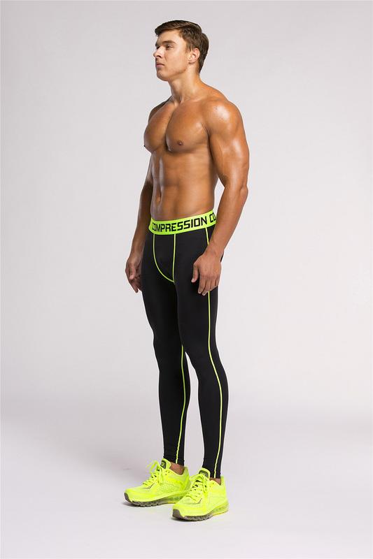 Sports Gym Leggings Bodybuilding Skinny Leggings Trousers for Men (AK2015001)