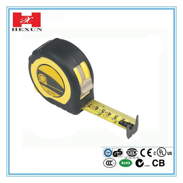 High Quality Rubber-Covered Self-Lock Hand Tools Measure Tape