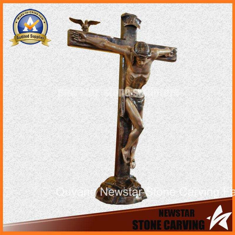 Religious Bronze Statue Jesus Christ Copper Wall Sculpture
