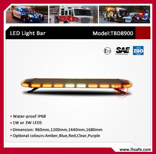 High Bright PC Body Oval LED Warning Light Bar (TBD8900A)
