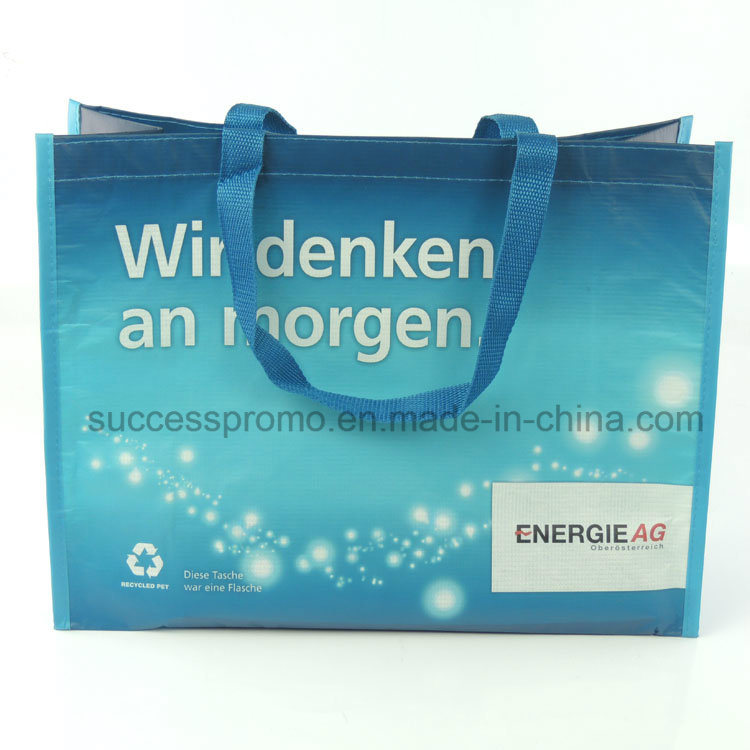 Custom RPET Shopping Bag with Full Colors Printing