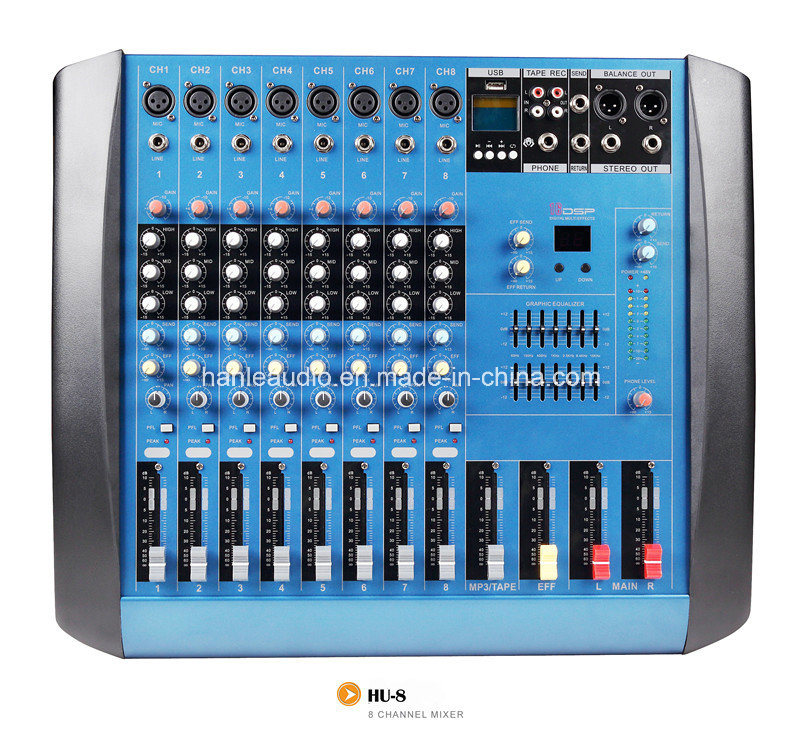 Mixing Console/Hu8/Mixer/Soud Mixer/Professional Mixer /Console/Sound Console/Brand Mixer