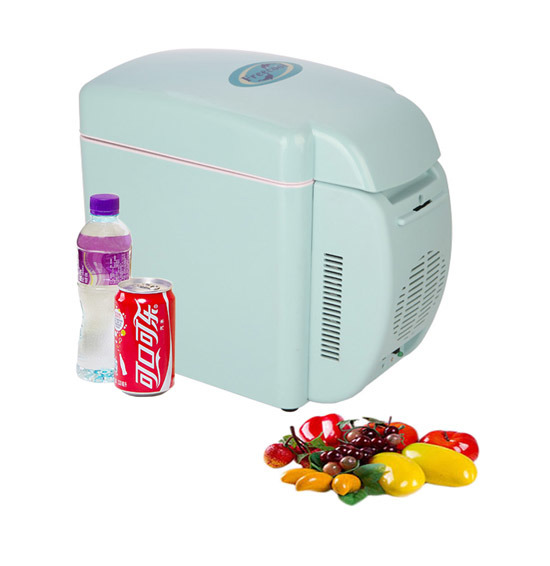 Innovative Mini Fridge 7 Liter DC12V, AC100-240V in Both Cooling and Warming Function