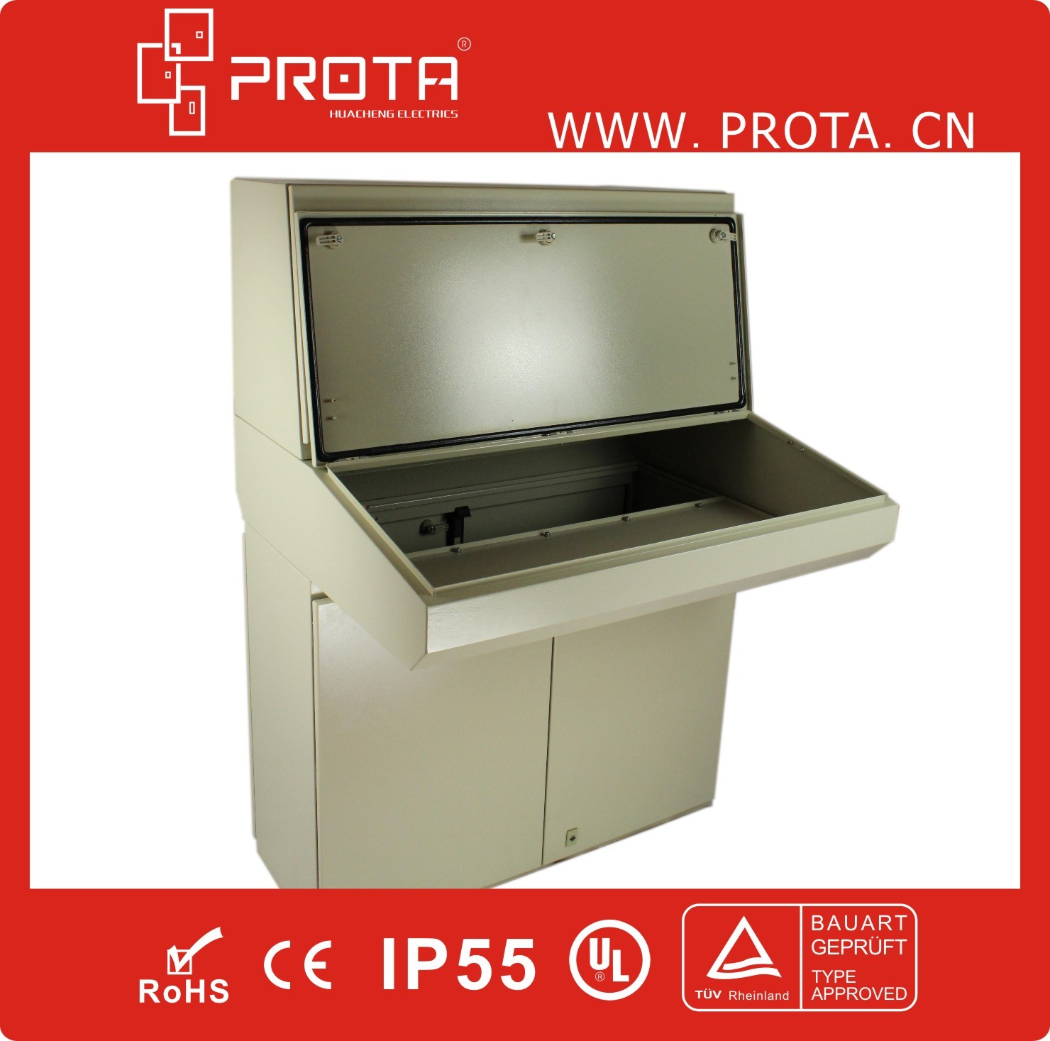 IP55 Electrical Control Cabinet Control Desk