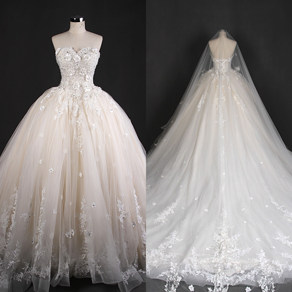 Strapless Wedding Dresses Bridal Gown Made in China Qh66004