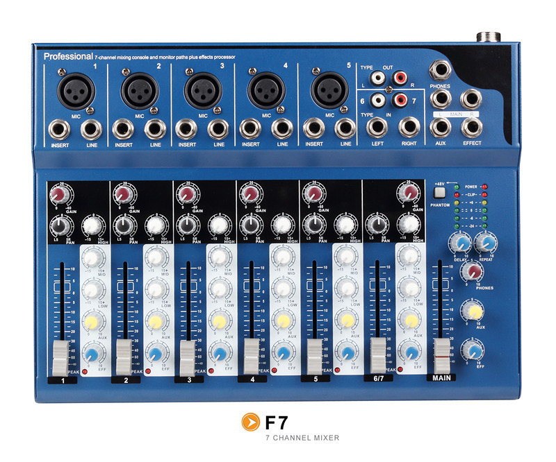 Mixer/Soud Mixer/Professional Mixer /Console/Sound Console/Brand Mixer /Mixing Console/F7