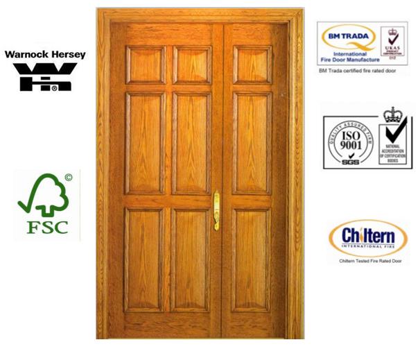 Timber Exterior Door/Wood Door /Veneer Door with Top Quality