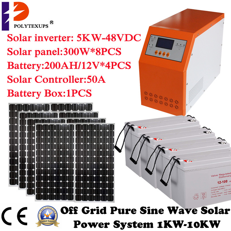 Solar Panel Solar Battery off Grid System for House Use