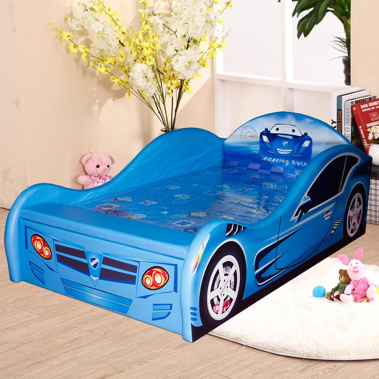 New Design Luxury PU Leather Car Children Bed
