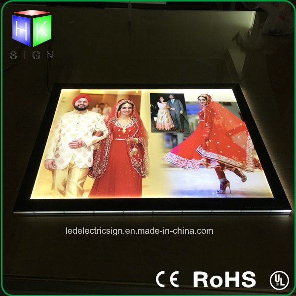 Crystal Acrylic LED Light Box Picture Frame Used on Advertising Art Work LED Light Display