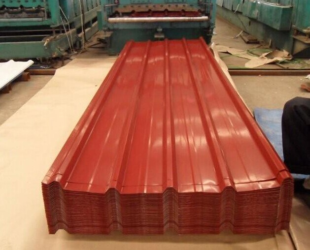 Red Color Galvanized Steel Plate for Roof for House Building