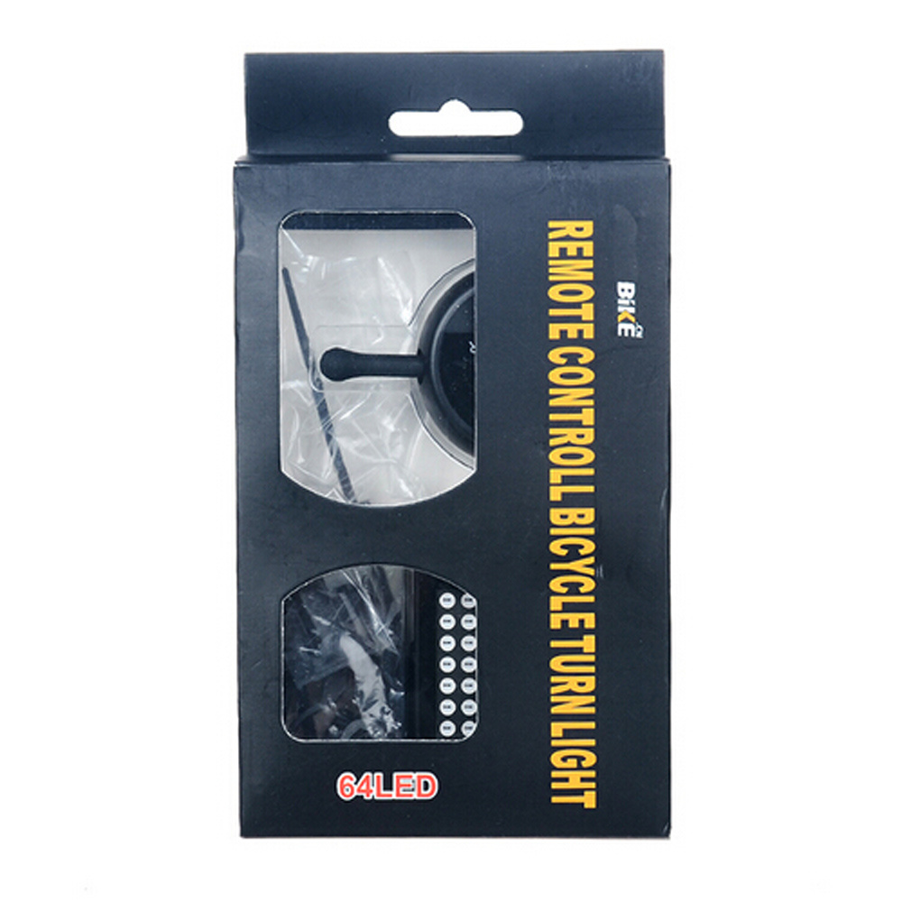 Rechargeable Remote Control Turn Signal Safety Warning Laser Bike Light