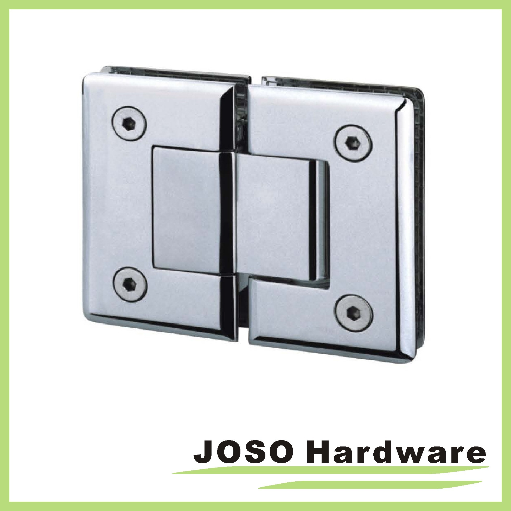180 Degree Glass to Glass Brass Mount Shower Hinge