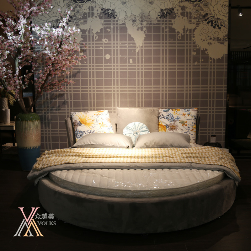 Fabric Round Bedroom Bed (305)