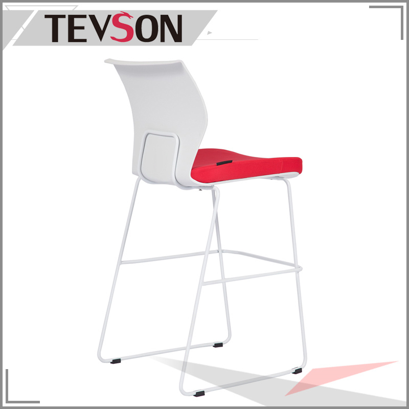 Unique and Modern Plastic Back Long Legs Bar Chair Bar Stool