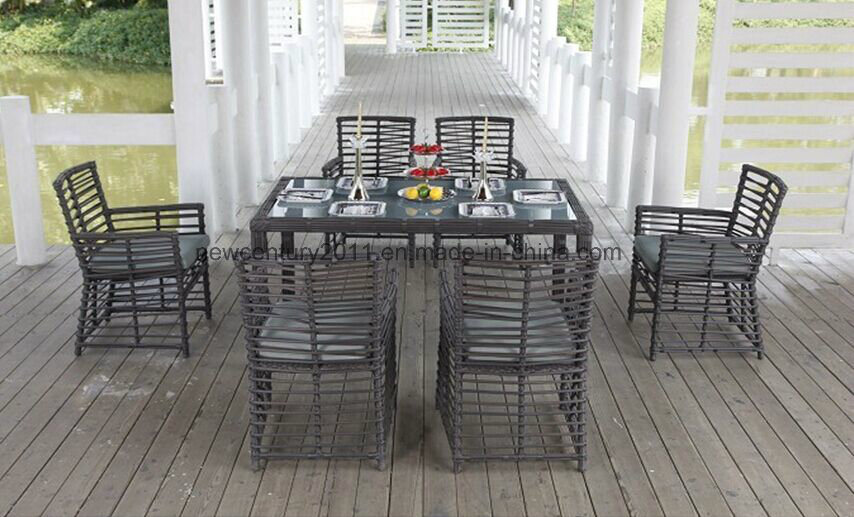 Garden New Design Rattan Dining Table and Chair