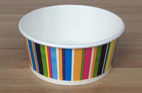3 4 5 6 8 12 16 20 24 32oz Custom Logo Printed Paper Ice Cream Frozen Yogurt Cups with Lids Spoons