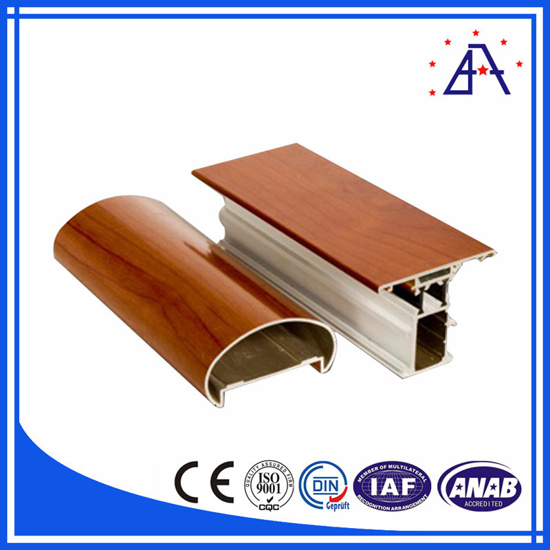 6063-T5 Powder Coating Extruded Aluminum/Aluminium Profile