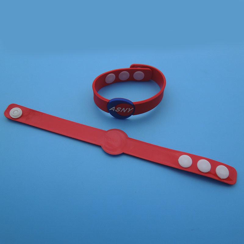 Asny Soft PVC Wristband Company Celebration Party Gift PVC Wristband