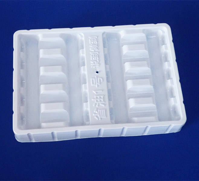 White PVC Blister Tray for Medcine Bottle Plastic Packing Tray for Bottles