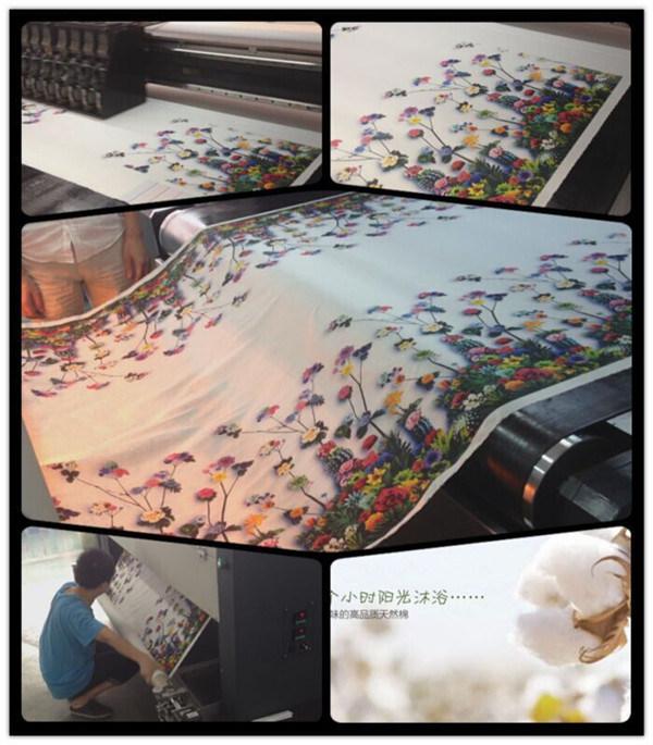 Mass Production Industrial Inkjet Digital Belt Inkjet Textile Direct to Garment Printer with Starfire Head