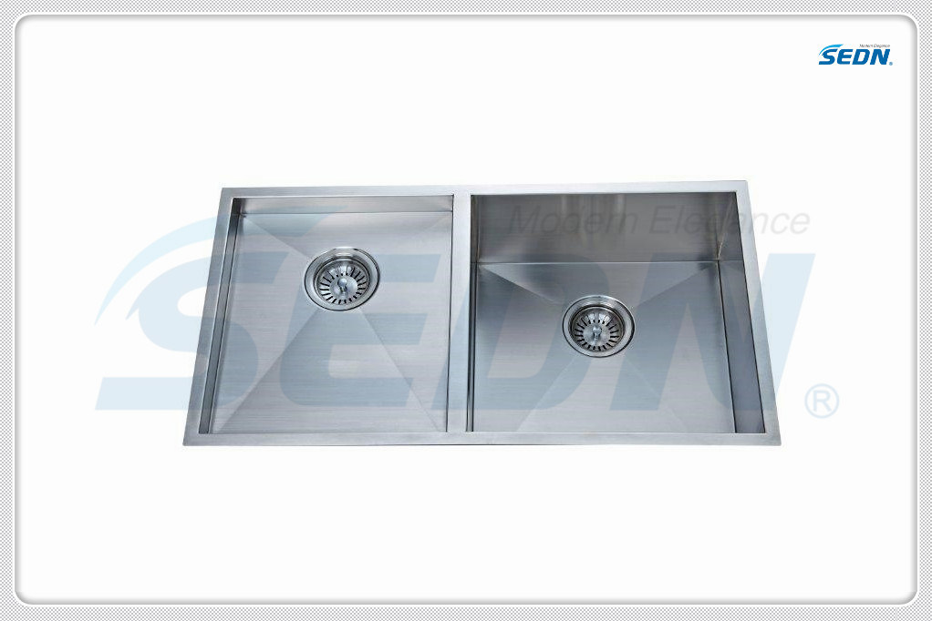 Handmade Double Bowl Stainless Steel Sinks (SA2012)