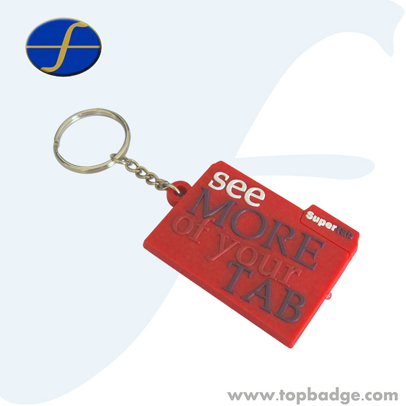 Funny Promotional Custom Giveaway Gift Soft PVC Keychain (FTPV2721A)