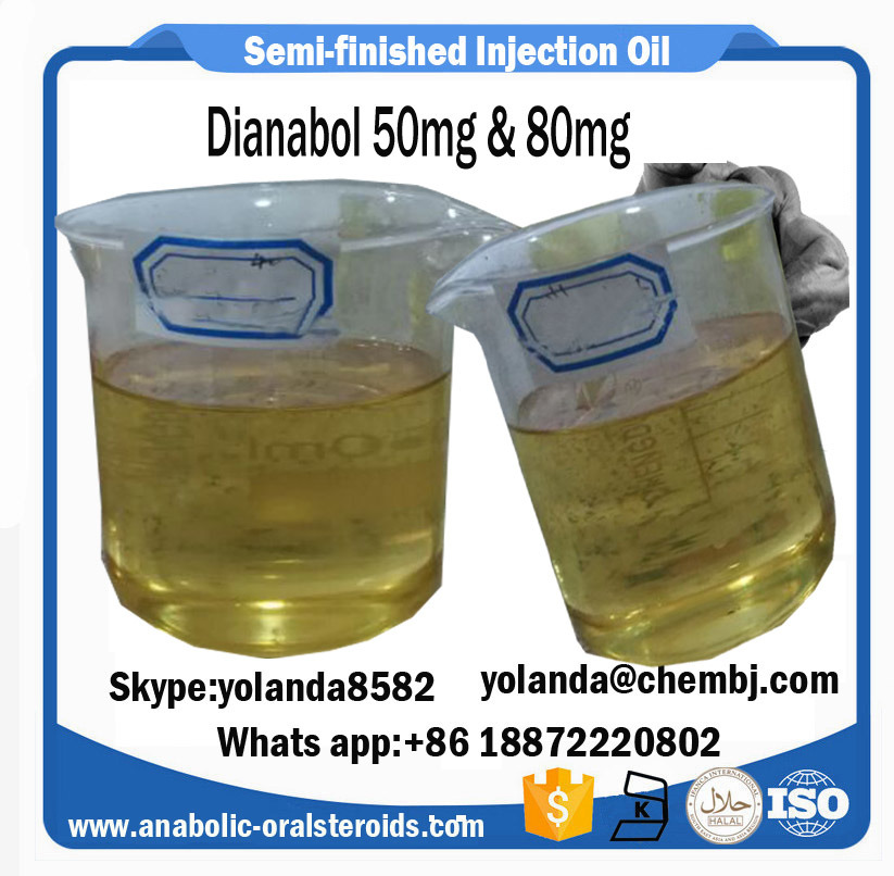 50mg Pre-Mixed Steroid Oil Metandienone Dianabol Dbol for Oral&Injection