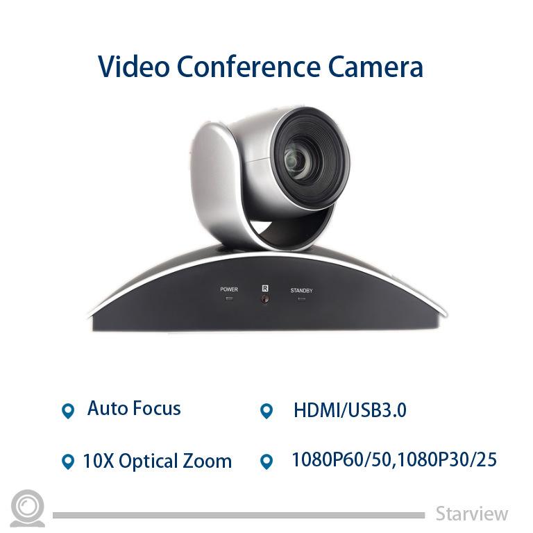 HD PTZ 10X Zoom Video Camera HDMI USB 3.0 Conference Camera