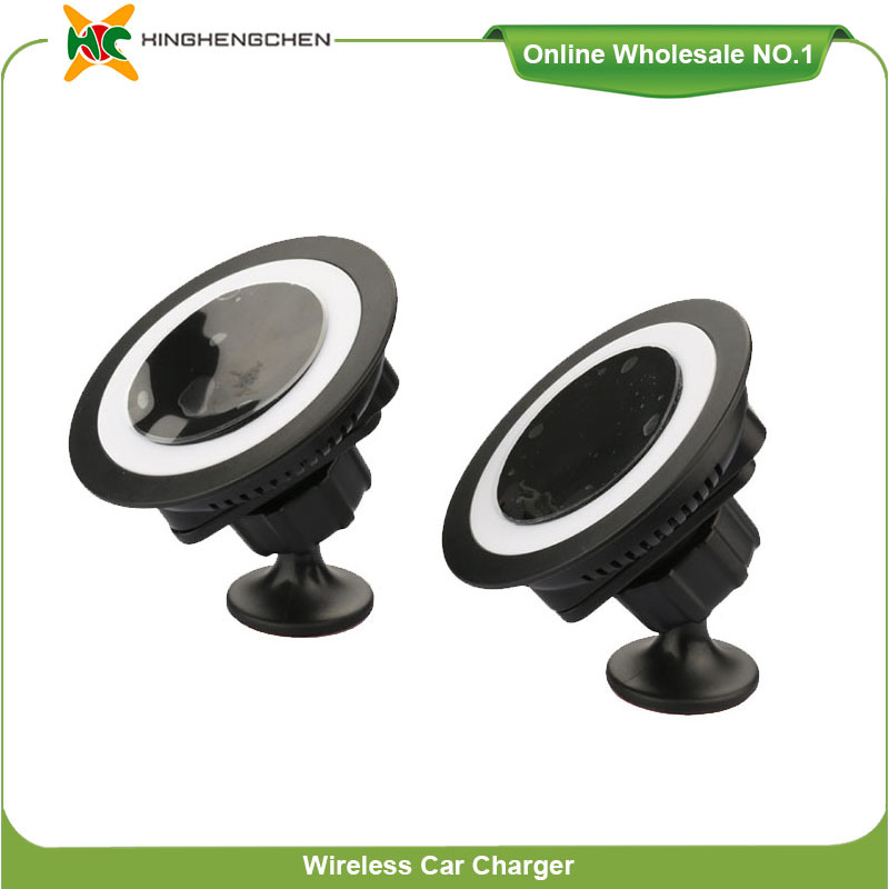 Built-in Battery 360 Rotation Car Holder Wireless Charger for Cellphone