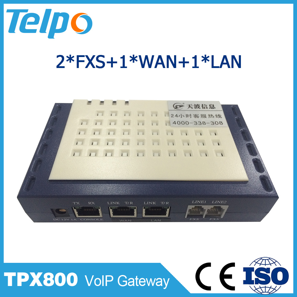 China Factory Call Waiting 2 Pots VoIP One FXS One Line ATA