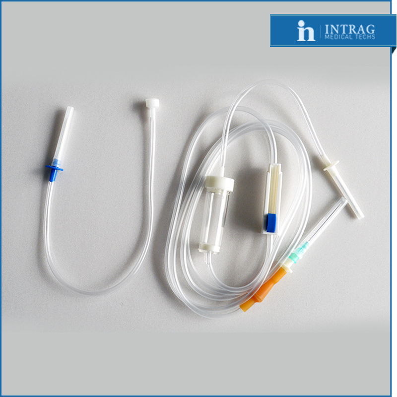 Disposable Sterile Infusion Set with Thin Latex Connector