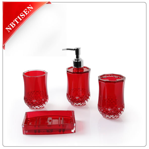 Acrylic/Plastic Bathroom Accessories Set (TS8004-4)