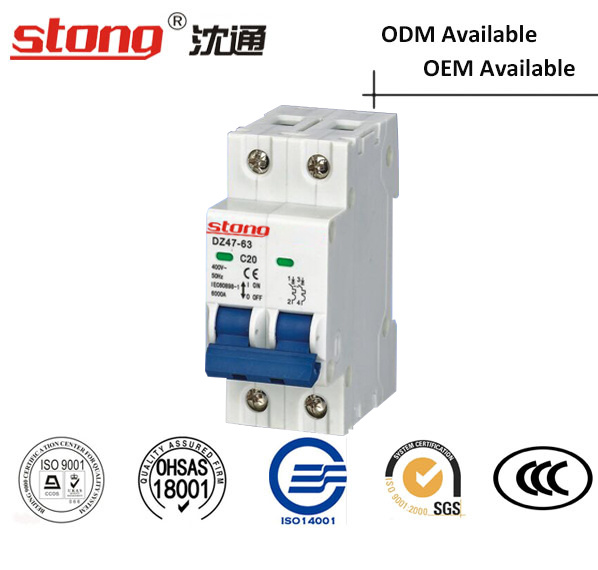 Mini Vacuum Circuit Breaker Dz47-63 (With Indicator) Overcurrent Protection