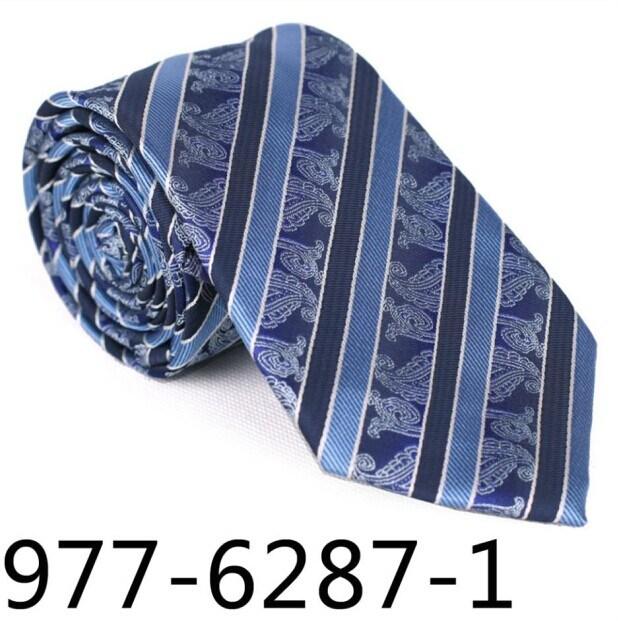 New Design Fashionable Stripe Paisley Necktie (6287-1)