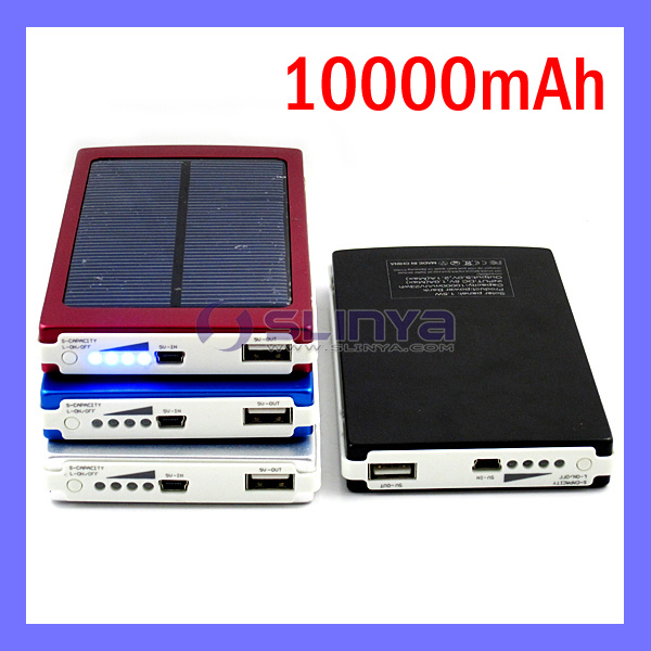 10000mAh Power Bank Portable Solar Mobile Charger Rechargeable Solar Battery for Samsung Tab Apple (SL-1014)