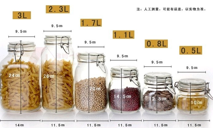 Airtight Glass Decorative Jar with Lid/Food Storage Containers