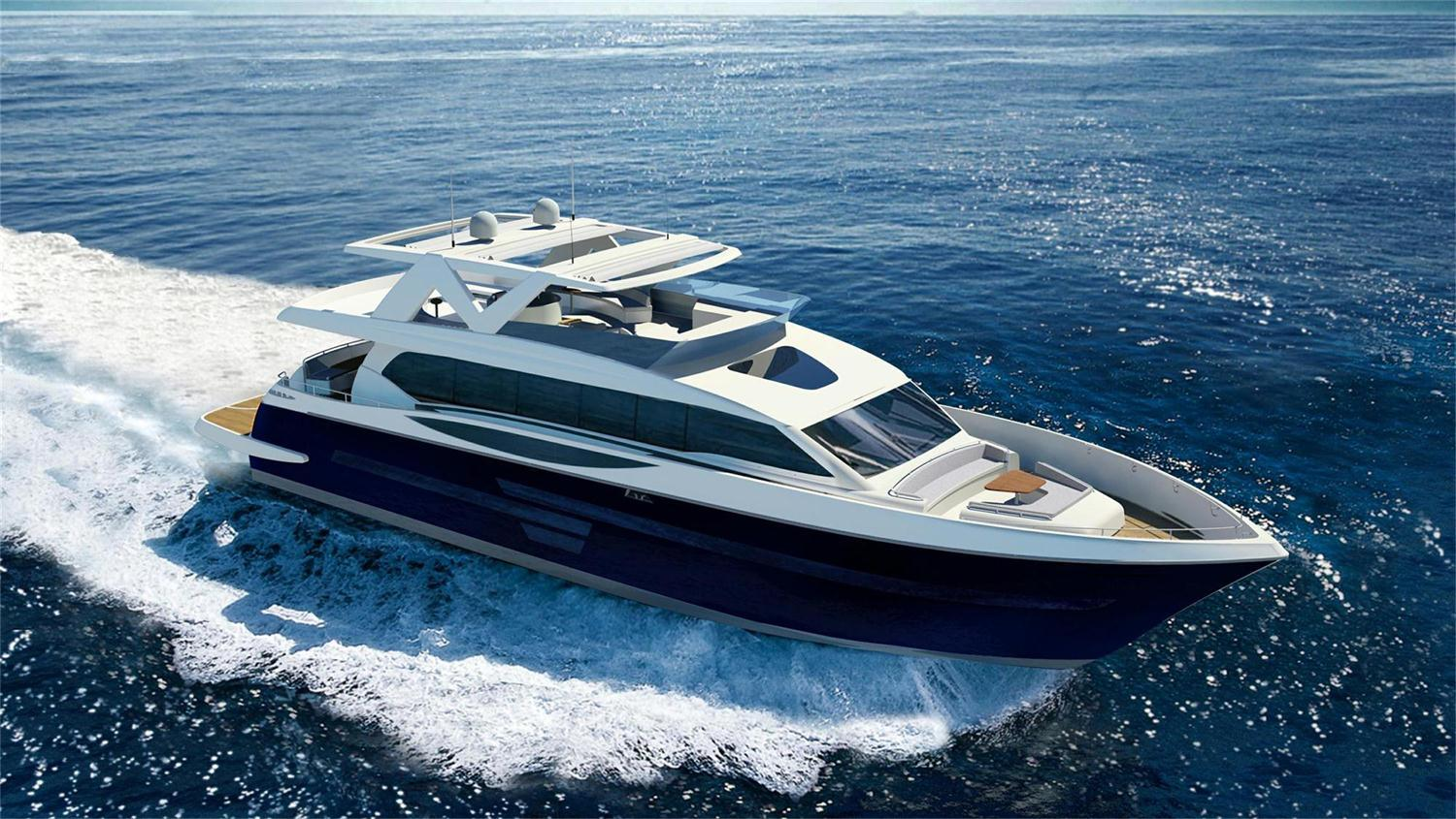 Seastella 95ft Super Yacht with Flybridge