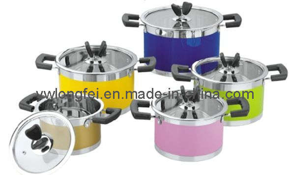 10PCS Stainless Steel Cookware With Bakelite Handle