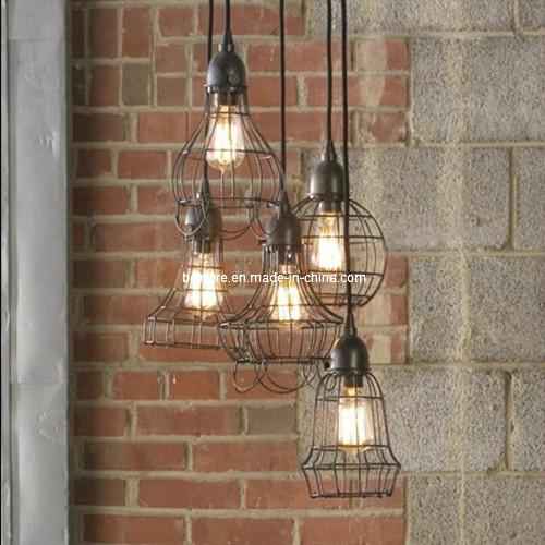 Antique Decorative Bulb with Iron Lamp Bird Cage