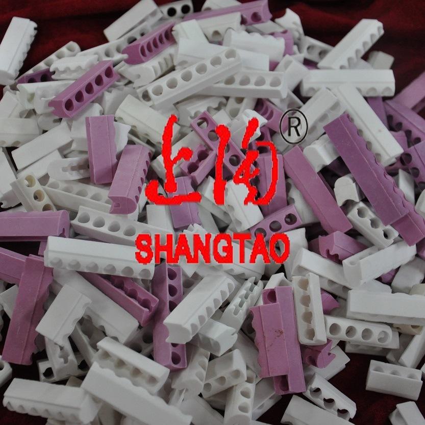 White Steatite Ceramic Band Heater Insulators