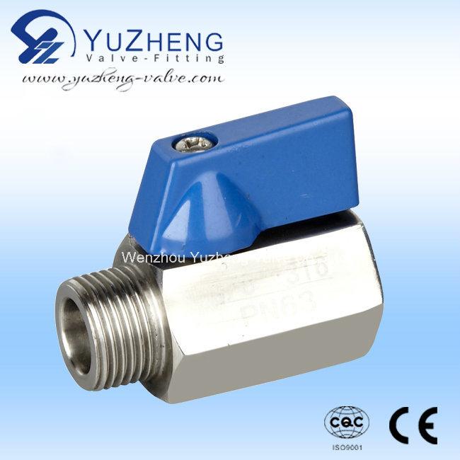 1PC Stainless Steel M/F Thread Mini Ball Valve