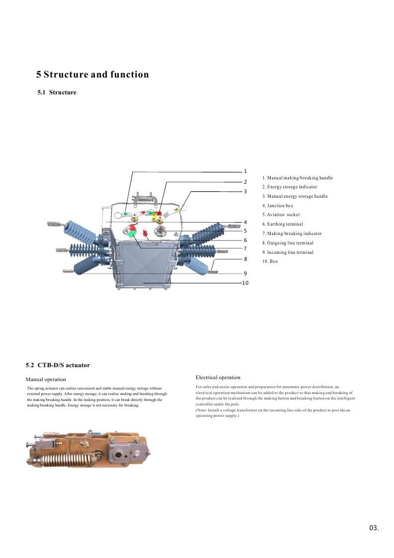 Zw20A-24 Series Vacuum Circuit Breaker Outdoor Type