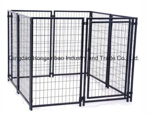 Black Color Powder or PVC Coating Outdoor Dog Kennel/Dog Cage